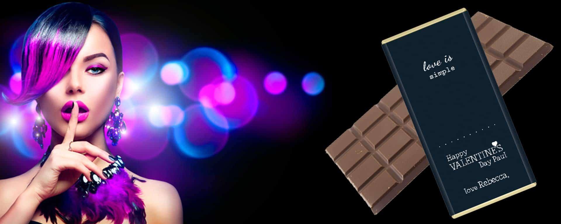 Valentine Chocolate Personalised Sweet Living Kilkenny