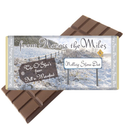 Across the Miles Personalised Chocolate Bar