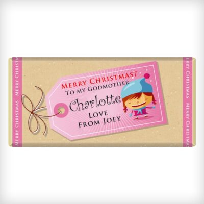 Girl Tag Design Chocolate Bar