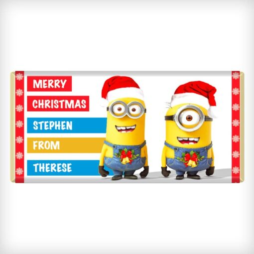 Minions Christmas Chocolate Bar