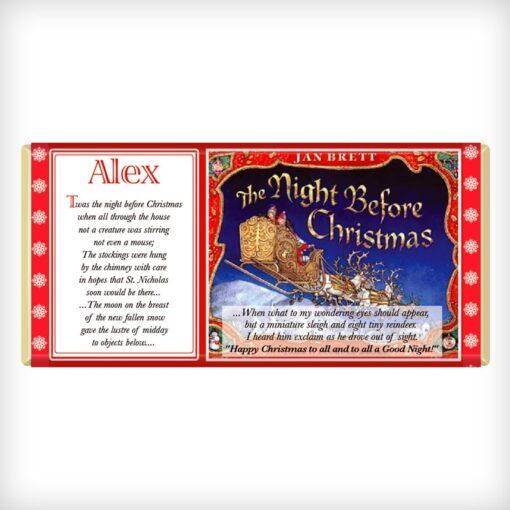 Twas The Night Before Christmas Chocolate Bar