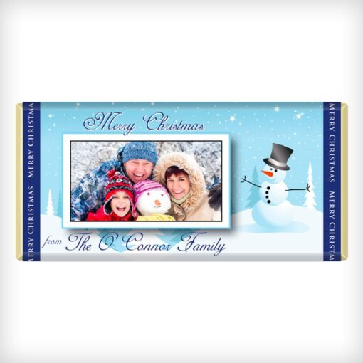 Use your own photo. Snowman Design 1