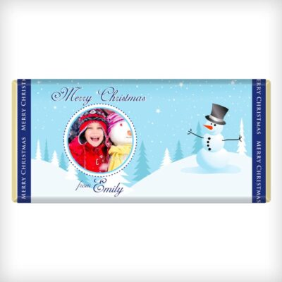 Use your own photo. Snowman Design 2