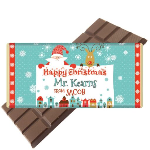 Christmas gift for Teacher Chocolate Bar Personalised