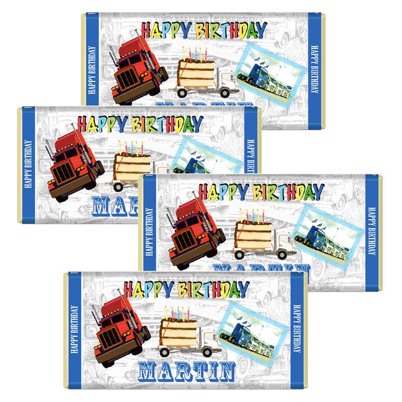 Pack of 10 Custom Birthday Chocolate Bars