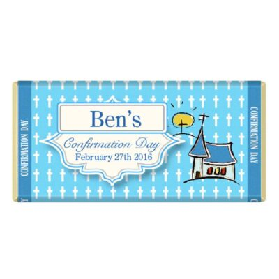 Personalised Confirmation Chocolate bar