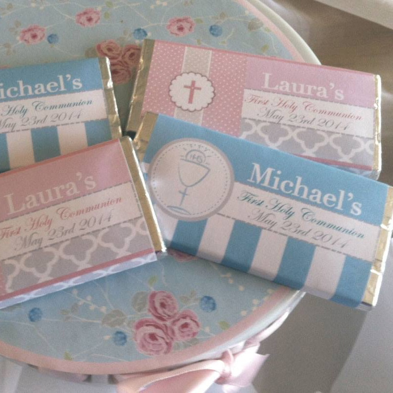 Confirmation Communion Personalised Chocolate Bars