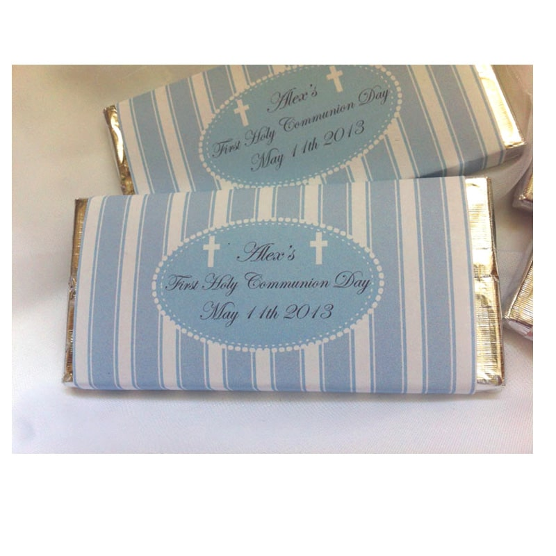 Personalised Communion Confirmation Chocolate Bars