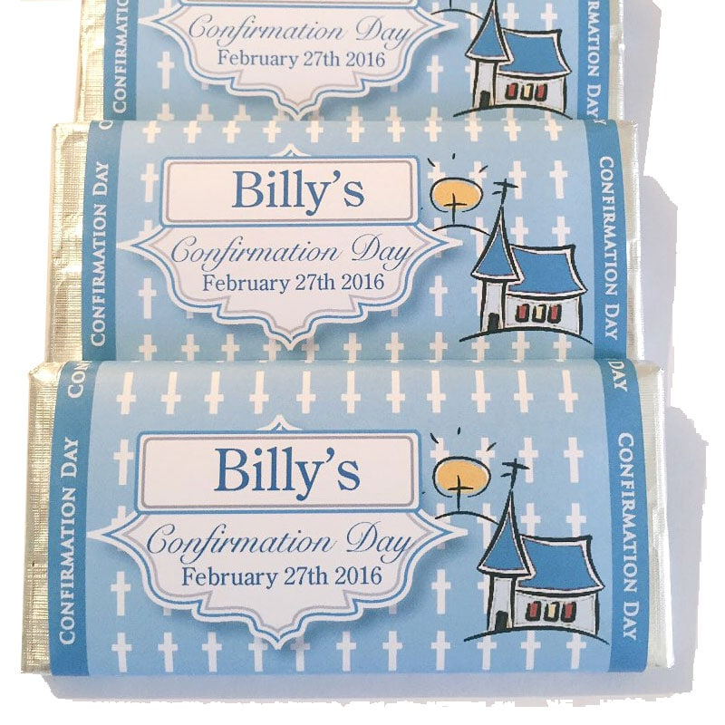 Confirmation Communion Small Personalised Chocolate Bars