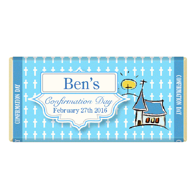Personalised Communion Confirmation Chocolate Bar