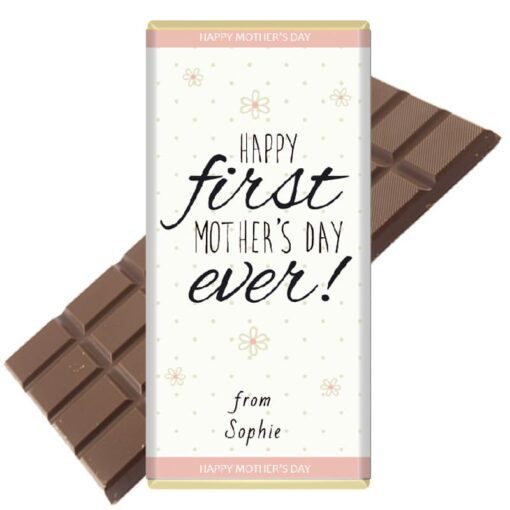First-Mothers-Day-personalised chocolate bar