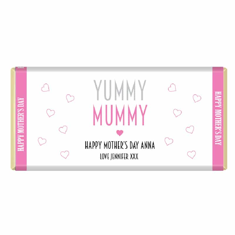 Happy Mothers Day Yummy Mummy Personalised Chocolate Bar