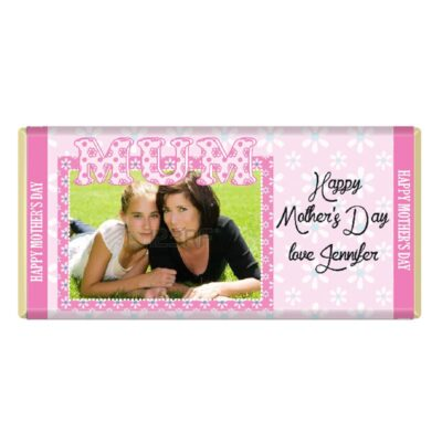 Upload Photo Personalised Mothers Day Chocolate Bar