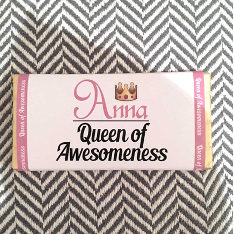 Queen of Awesomeness Chocolate Bar