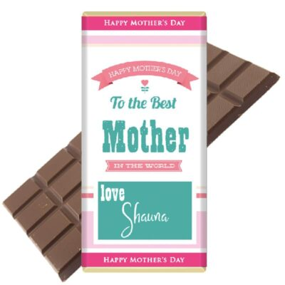 To-the-best-mother-personalised chocolate bar