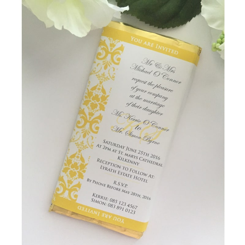 Chocolate Bar Wedding Invitation
