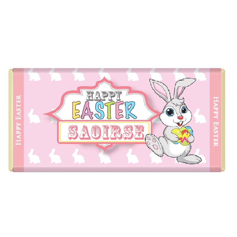 Easter Bunny Personalised Chocolate Bars