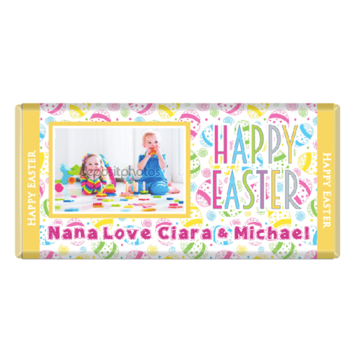 Photo Easter Personalised Chocolate Bar