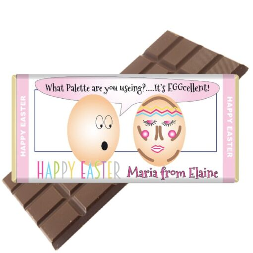 Palette Easter Chocolate Bar Personalised