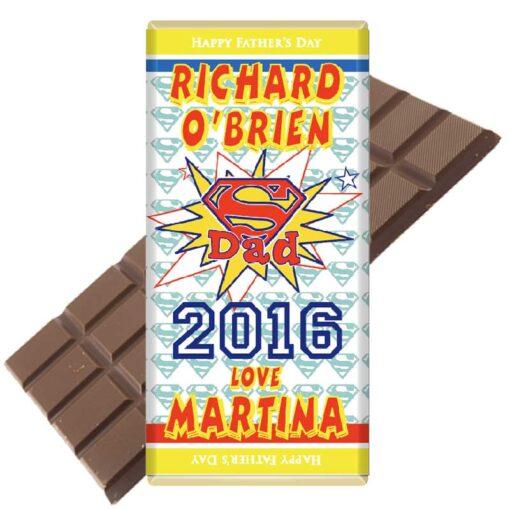 Super Dad 2016 Personalised Chocolate Bar
