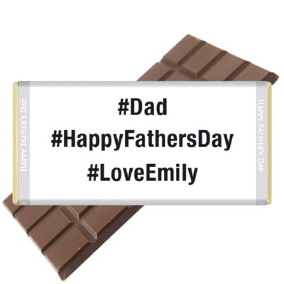 #HappyFathersDay Personalised Chocolate Bar