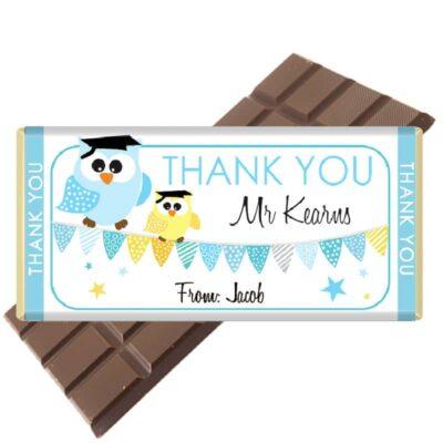 2 Teacher-Bar-Owl-Blue-Chocolate Bar