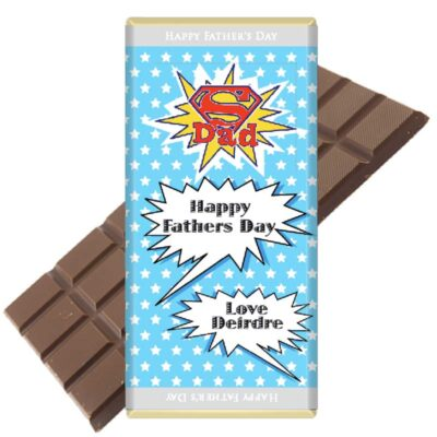 Super Dad Fathers Day Chocolate Bar