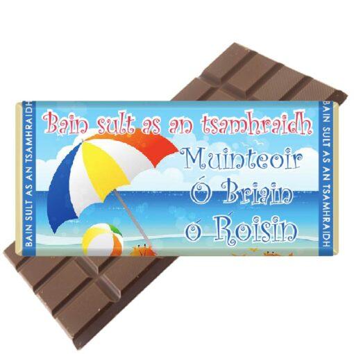 6 Teacher-IRISH-Umbrella-Blue-Chocolate Bar