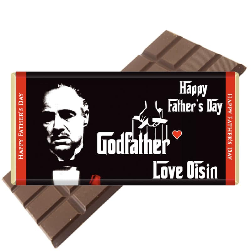 Custom Fathers Day Chocolate Bar