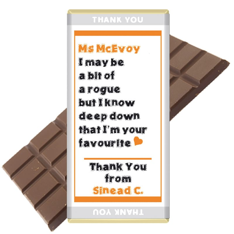 Teacher-rogue favourite chocolate bar