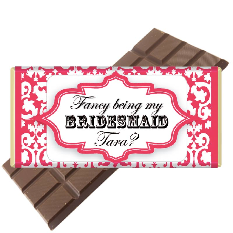 Will you be my bridesmaid bar