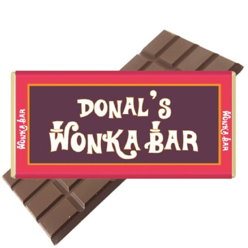 Wonka Bar Personalised