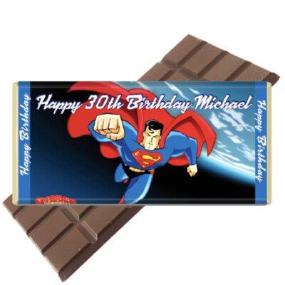 superman-personalised chocolate bar