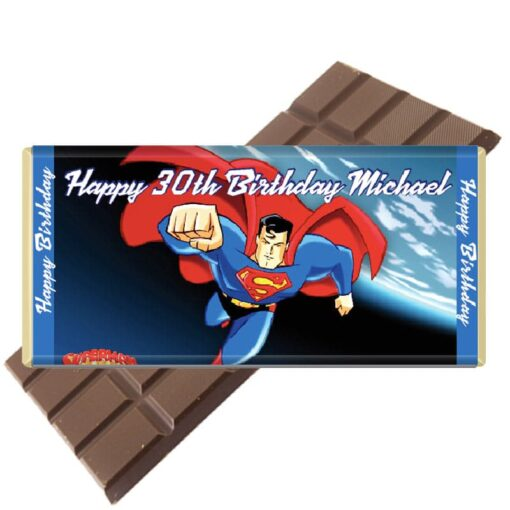 superman-personalised chocolate bar