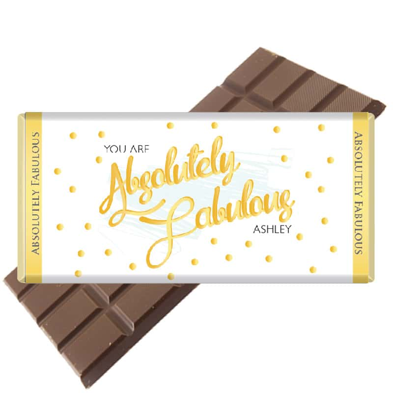 Absolutely Fabulous Personalised Chocolate Bar