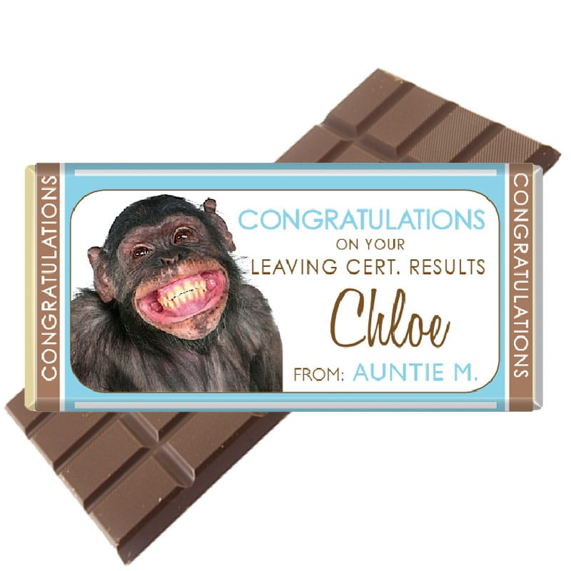 Congratulations on your Leaving Cert. Personalised Chocolate Bar
