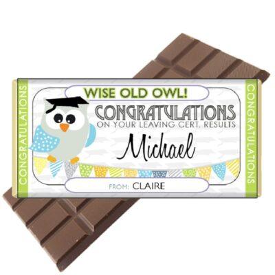 Leaving Cert Personalised Chocolate Bar