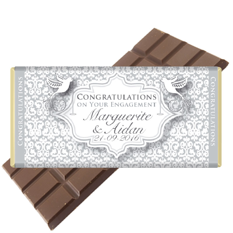 Engagement Gift Chocolate Bar Personalised