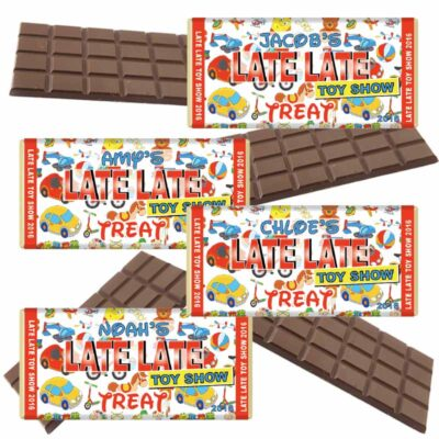 Late Late Toy Show Chocolate Bars