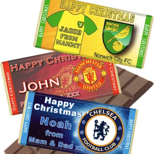 Premier League Personalised Chocolate Bars