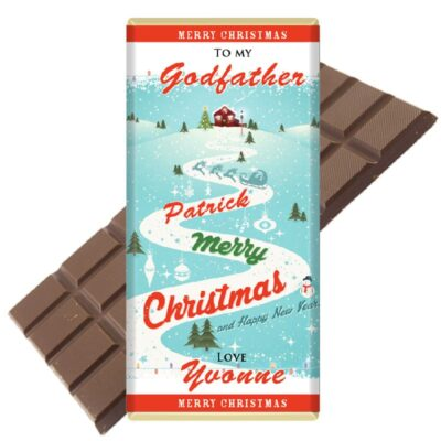 Godmother godfather personalised chocolate bar