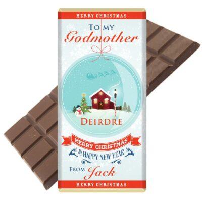 Personalised Godmother Chocolate Bar