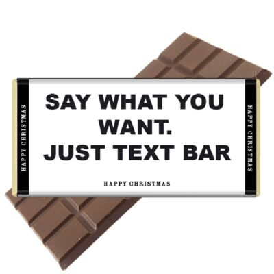 Just Text Chocolate Bar