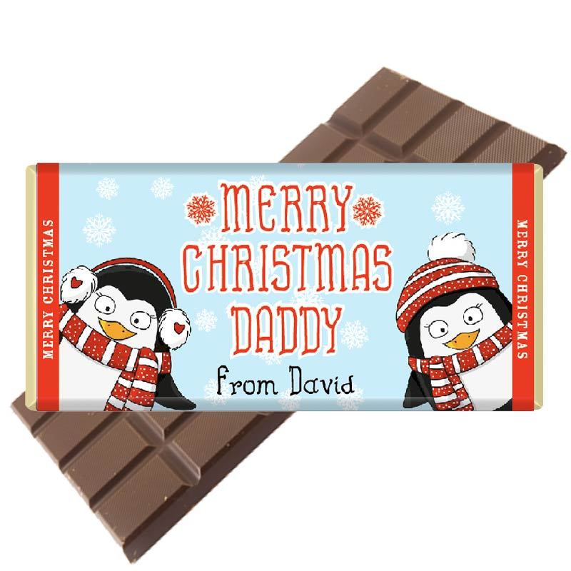 Cute Penguin Design Chocolate Bar