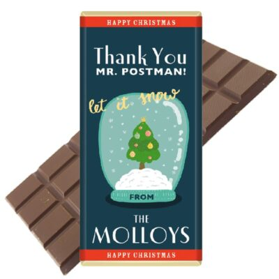 Personalised postman chocolate bar christmas gift