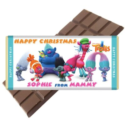 Trolls Crew Personalised Chocolate Bar