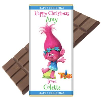 Trolls Polly Personalised Chocolate Bar