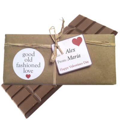 Good Old Fashioned Love Chocolate Bar personalised