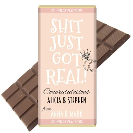 Shit-just-got-real-engagement chocolate