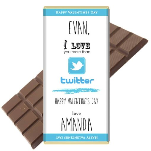 I love you more than twitter chocolate bar